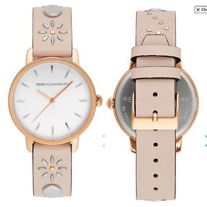 Rebecca Minkoff BFFL Rose Gold Blush Stud Watch